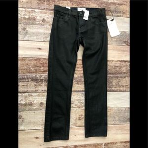 Current/Elliot crop jeans coated black size 23 NWT